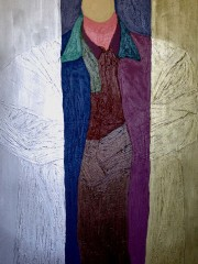 20,Oil Painting on Canvas and wood,200x122cm, 2008