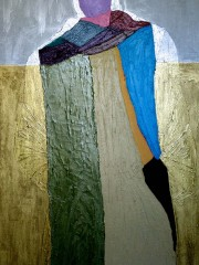 21,Oil Painting on Canvas and wood,200x122cm, 2008