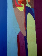 26,Oil Painting on Canvas and wood,200x122cm, 2009