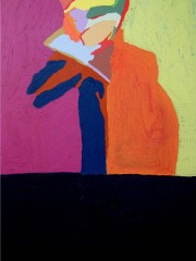 27,Oil Painting on Canvas and wood,200x122cm, 2009