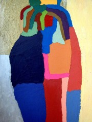 29,Oil Painting on Canvas and wood,200x122cm, 2009