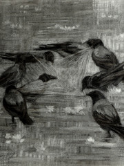 Hanan El Sheikh, Charcoal on paper,  61×61 cm, 5000 EGP